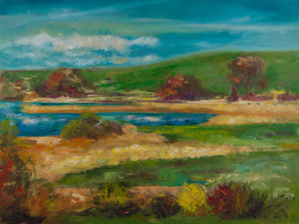 HErbstliche Teichlandschaft | Originalformat: 60x80cm  -   Produktionsjahr: 2008