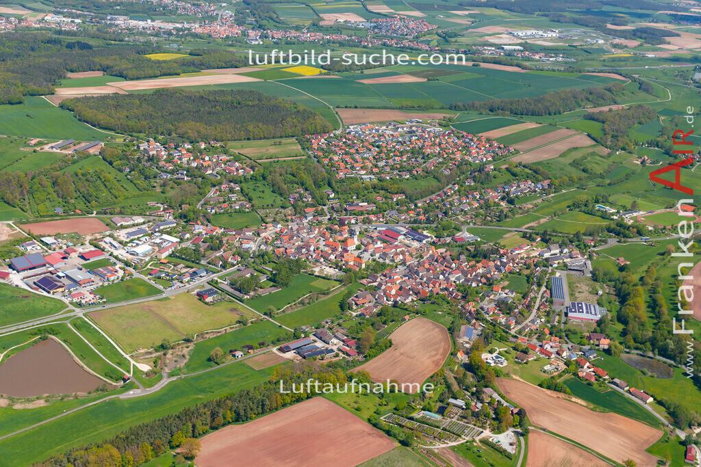 burghaslach-19-217 | aktuelles Luftbild von  Burghaslach  - Luftaufnahme wurde 2019 von https://frankenair.de mittels Flugzeug (keine Drohne) erstellt.