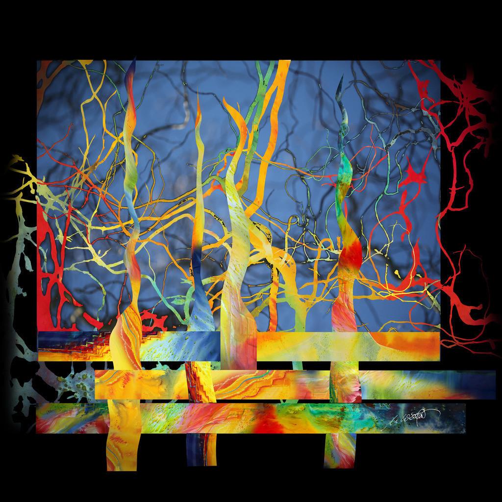 Farben des Lebens V05 | DAS LEBEN UND SEINE FARBEN:  Beobachtet man das Leben, ist es ein Geflecht aus Mensch und Zeit. Wie Großartiges in Niedrigem, durchschneidet Vertikales unseren Horizont. Nur die Zeit und die Andacht lassen das Muster erahnen. Erst nach der letzten Stunde hat man alle Farben gesehen. die das Leben und der Mensch gemalt haben.