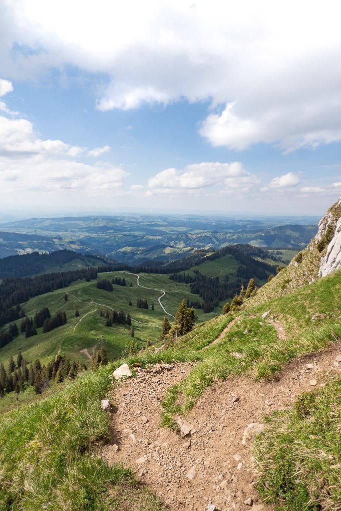 Abstieg Sigriswiler Rothorn | Blick über Bern und Solothurn