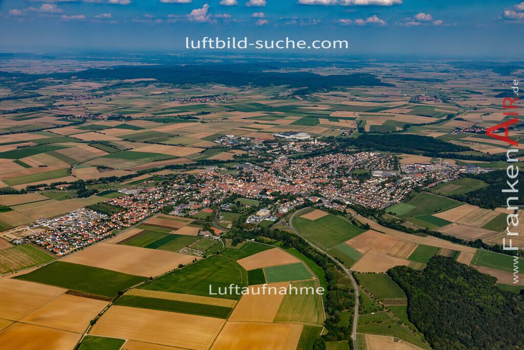 uffenheim-19-724 | aktuelles Luftbild von  Uffenheim - Luftaufnahme wurde 2019 von https://frankenair.de mittels Flugzeug (keine Drohne) erstellt.