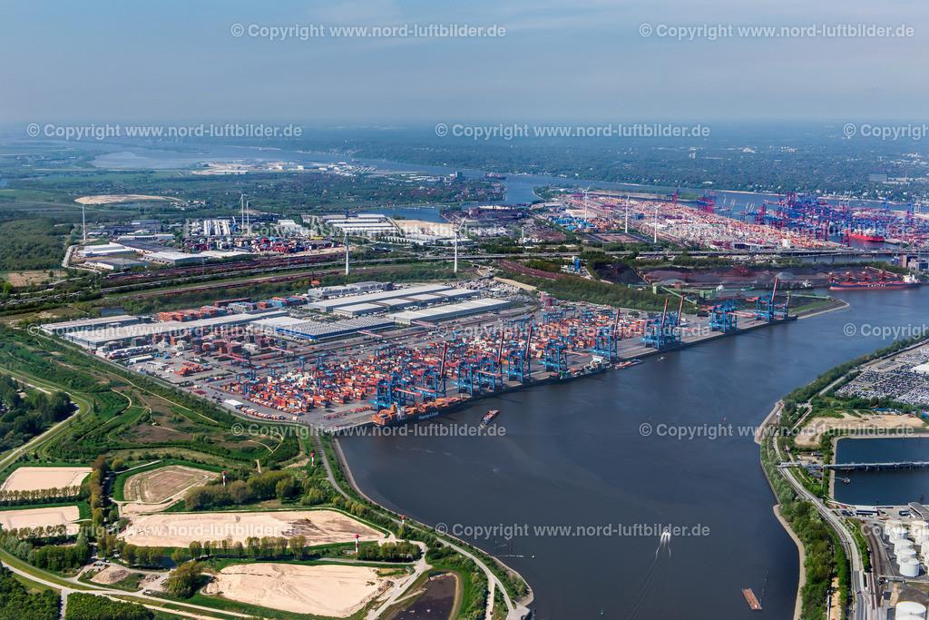 Hamburg Altenwerder_CTA HHLA_ELS_3730110517 | Hamburg - Aufnahmedatum: 11.05.2017, Aufnahmehöhe: 539 m, Koordinaten: N53°29.249' - E9°57.710', Bildgröße: 7046 x  4703 Pixel - Copyright 2017 by Martin Elsen, Kontakt: Tel.: +49 157 74581206, E-Mail: info@schoenes-foto.de  Schlagwörter:Altenwerder,HHLA,CTA,Container Terminal,Container,Automatisiert,Luftbild, Luftbilder,