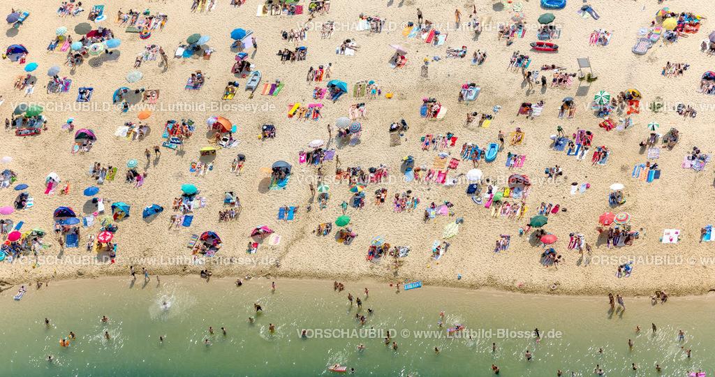 Haltern13081835 | Silbersee II aus der Luft, Sandstrand und türkisfarbenes Wasser, Luftbild von Haltern am See