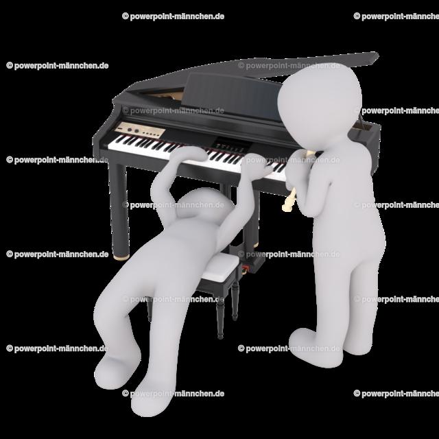 crazy piano player and flute player | Quelle: https://3dman.eu   Jetzt 250 Bilder kostenlos sichern