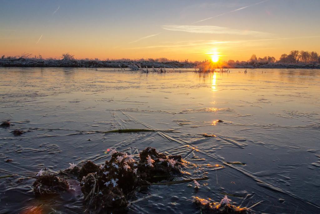 Sonnenaufgang in den Hammewiesen | Winterlicher Sonnenaufgang