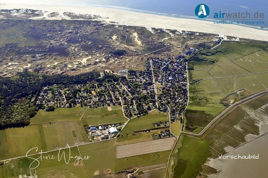 Luftbild, Nordsee, Amrum, Norddorf,   Luftbild, Nordsee, Amrum, Norddorf,