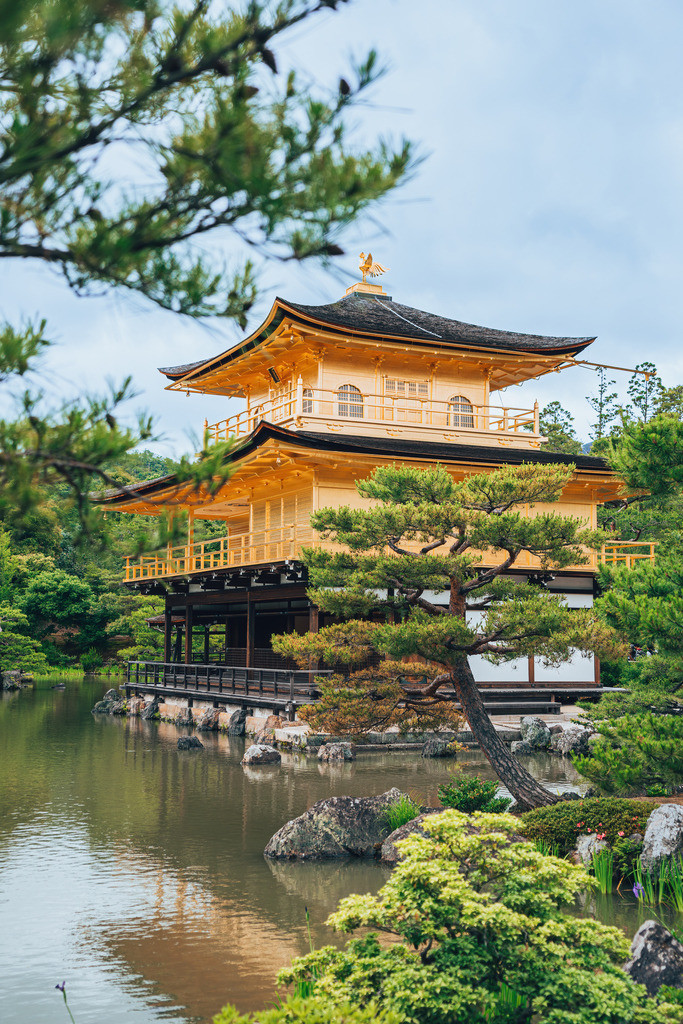 Japan Kyoto Goldener Pavillon Tempel | Japan Kyoto Goldener Pavillon Tempel