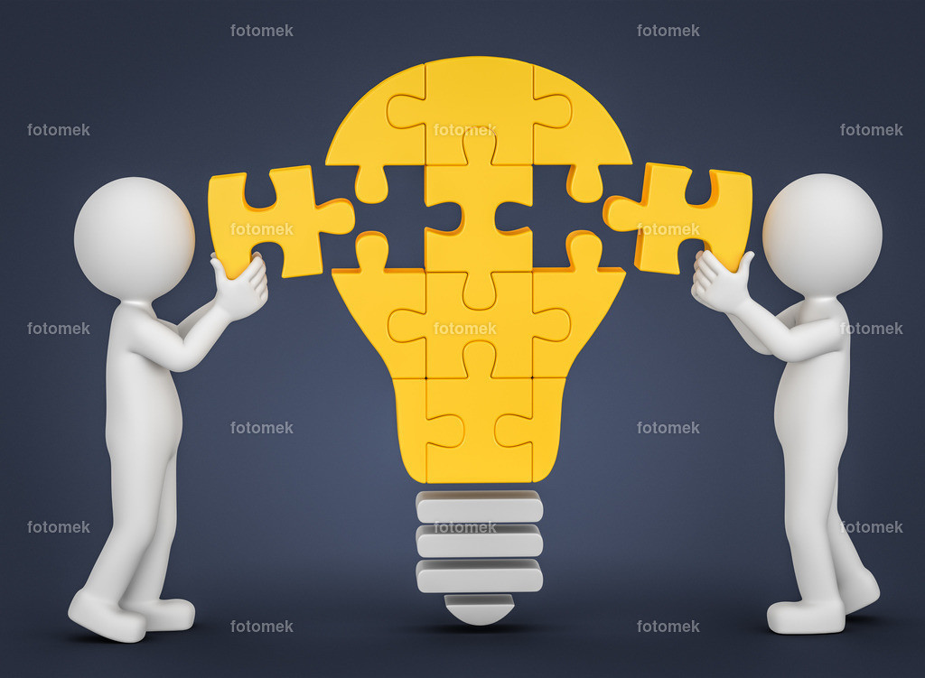 3d Münnchen Puzzle Glühbirne Idee