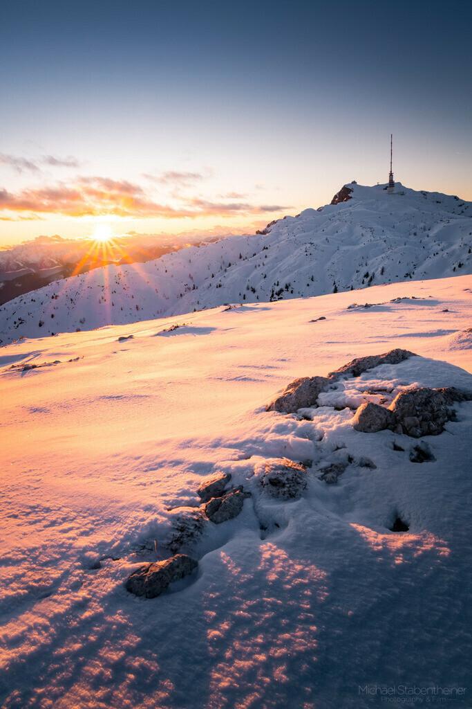 Sonnenuntergang am Dobratsch | Sonnenuntergang am Dobratsch