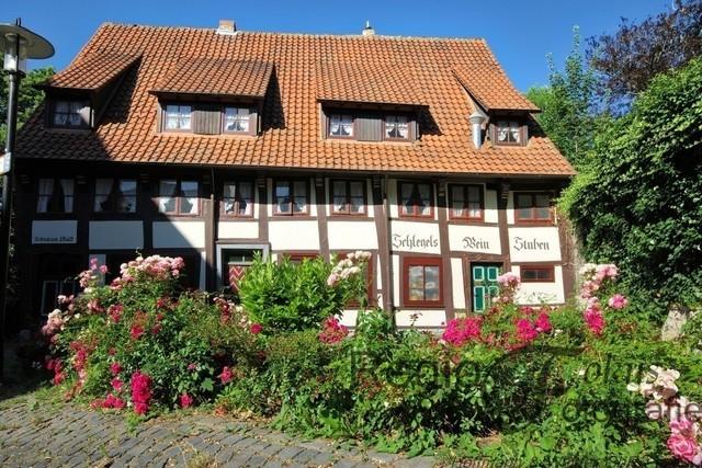 Weinstube Schlegel | Altes Gebäude der Weinstube Schlegel, gegenüber des Roemer-und Pelizaeus-Museums