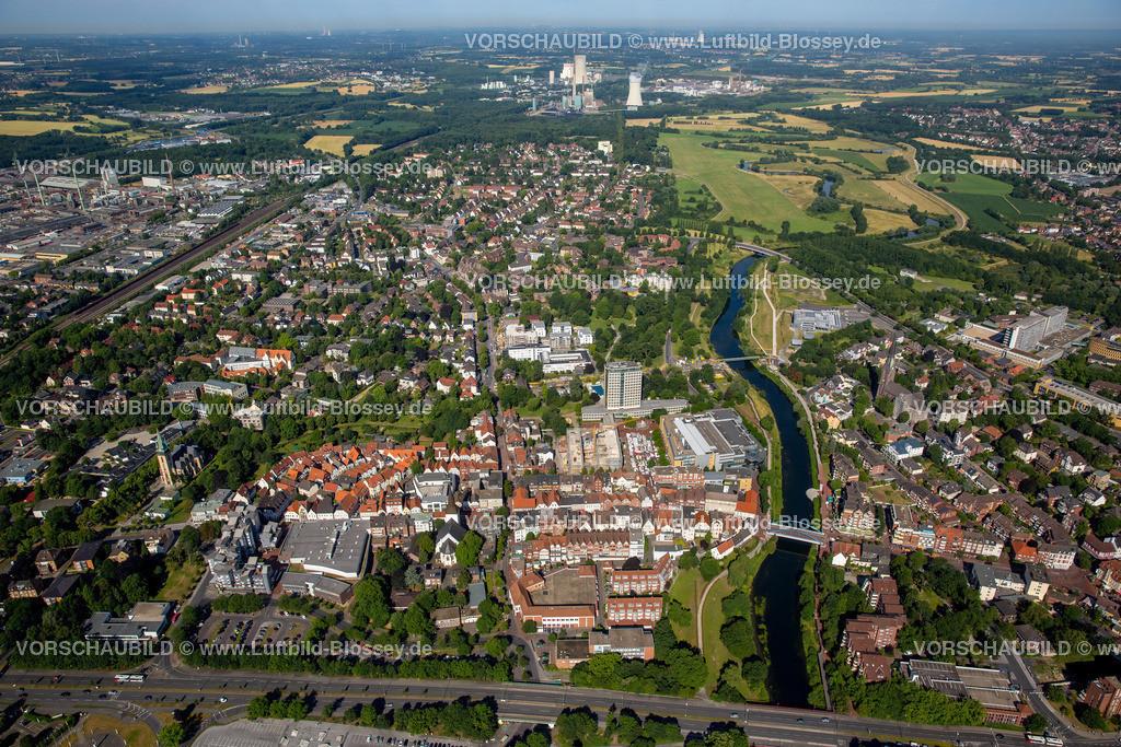 Luenen15071903 | Blick auf den Stadtkern von Lünen mit dem Umbau des Hertie-Hauses, Lünen, Ruhrgebiet, Nordrhein-Westfalen, Deutschland