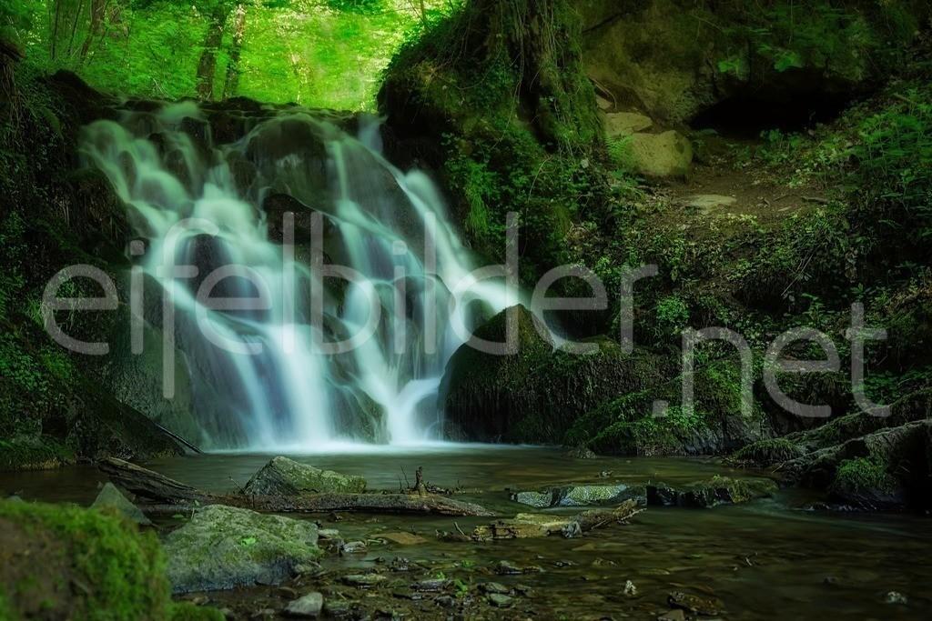 Wasserfall an der Elfengrotte in geheimnisvoller Stimmung   Jedem Wald wohnt ein Zauber inne ... wir haben nur verlernt ihn zu sehen ...