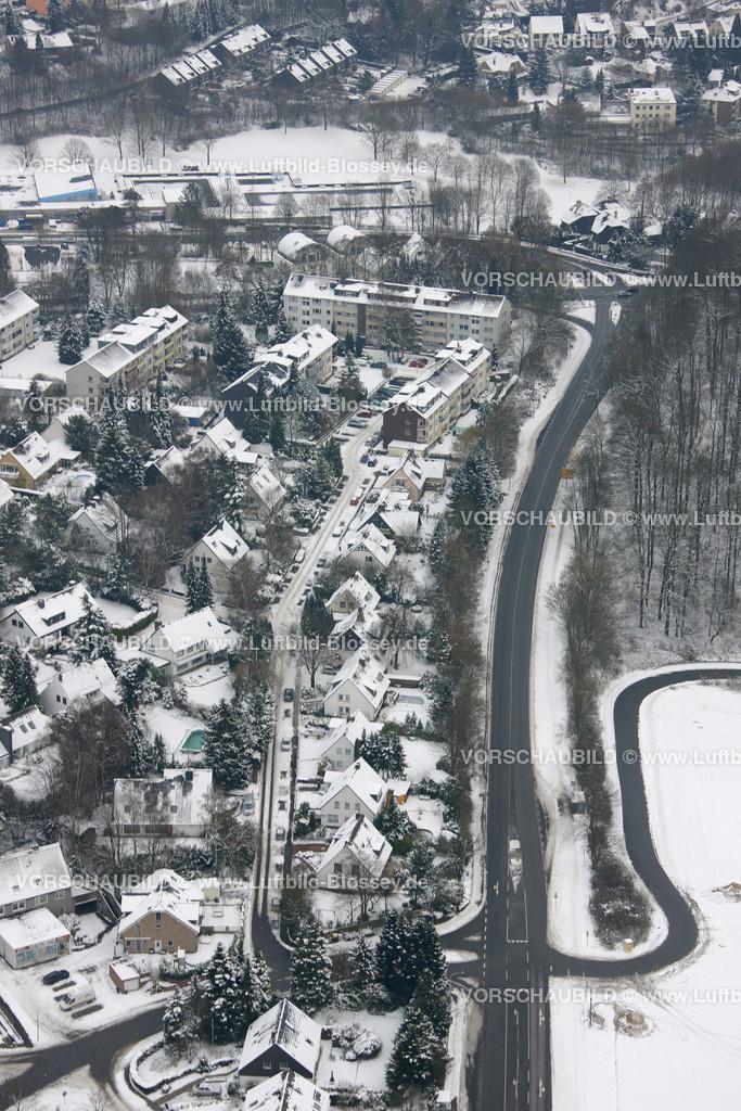 KT10011053   Schnee,  Kettwig, Essen, Ruhrgebiet, Nordrhein-Westfalen, Deutschland, Europa, Foto: Luftbild Hans Blossey, Copyright: hans@blossey.eu, 06.01.2010, E 006° 56' 40.42