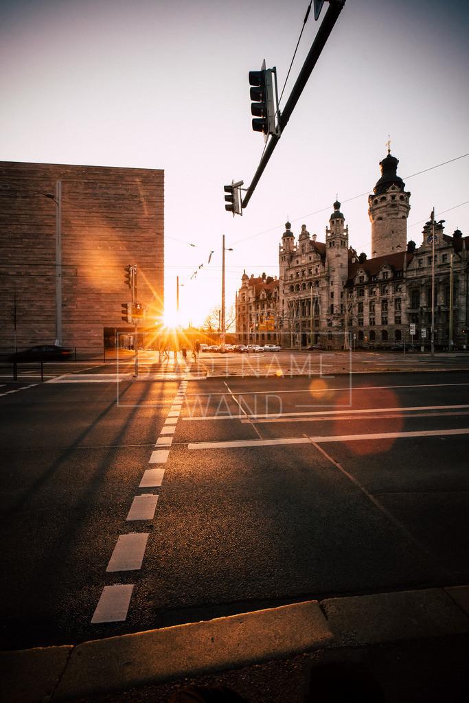 Neues Rathaus Sonnenuntergang