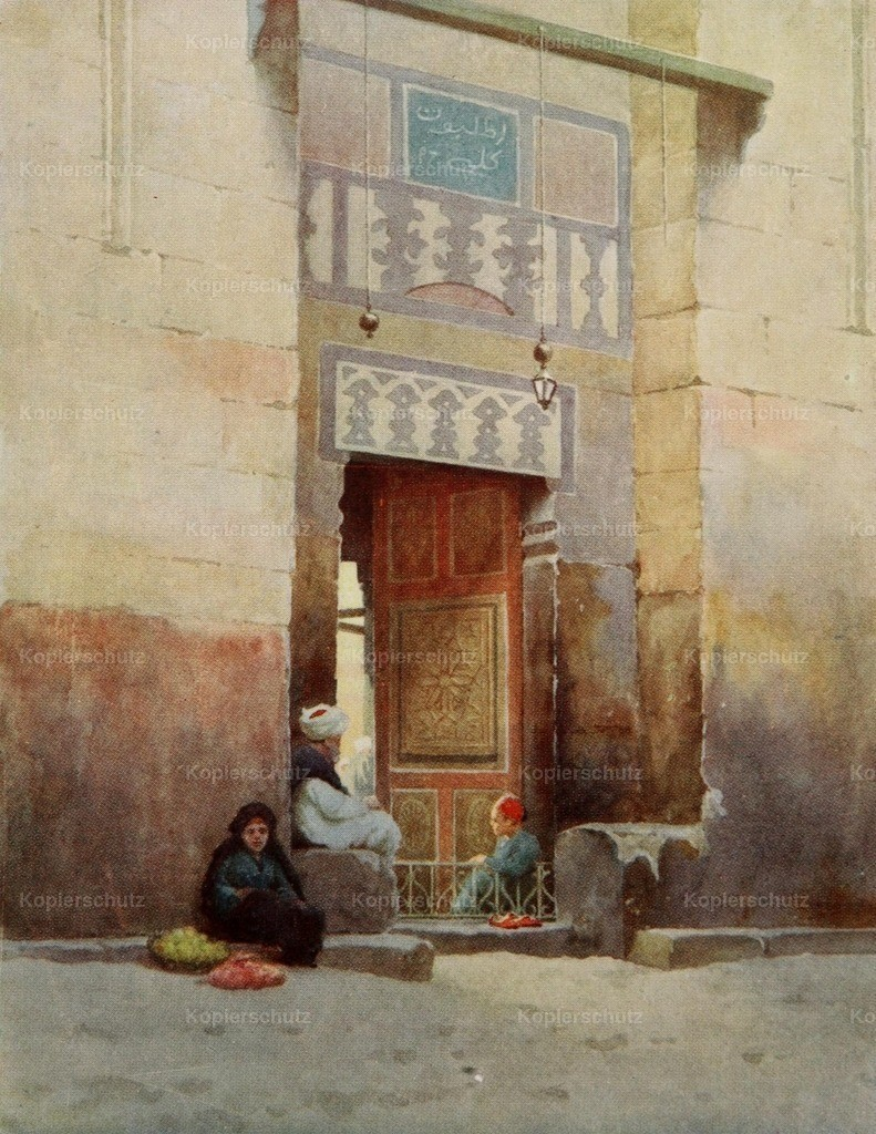 Kelly_ Robert Talbot (1861-1934) - Egypt 1903 - A Mosque door_ Cairo