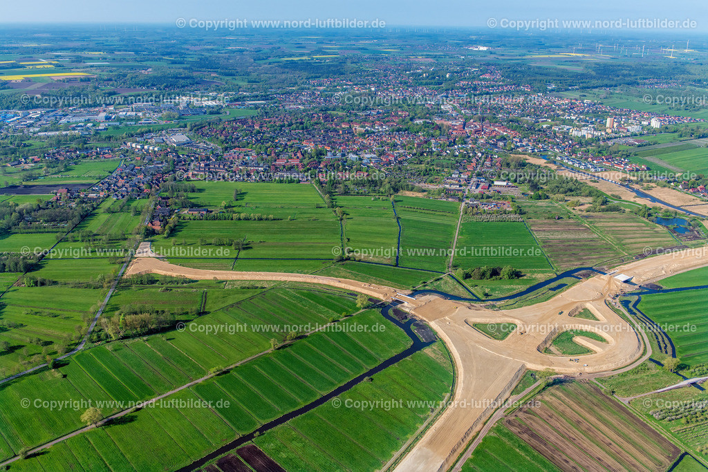Buxtehude Autobahnbau_ELS_0466020518 | Buxtehude - Aufnahmedatum: 02.05.2018, Aufnahmehöhe: 440 m, Koordinaten: N53°29.401' - E9°43.956', Bildgröße: 8029 x  5353 Pixel - Copyright 2018 by Martin Elsen, Kontakt: Tel.: +49 157 74581206, E-Mail: info@schoenes-foto.de  Schlagwörter:Niedersachsen,Luftbild, Luftbilder, Deutschland