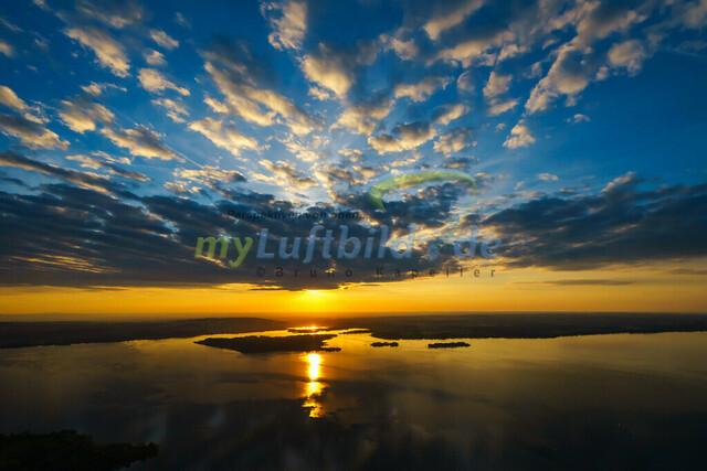 luftbild-chiemsee-sonnenuntergang-bruno-kapeller-02 | Luftaufnahme vom Chiemsee Sonnenuntergang