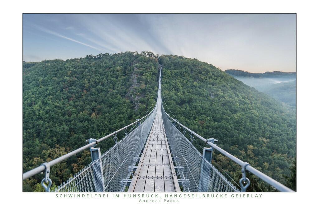 Schwindelfrei im Hunsrück, Hängeseilbrücke Geierlay | Die Serie 'Deutschlands Landschaften' zeigt die schönsten und wildesten deutschen Landschaften.