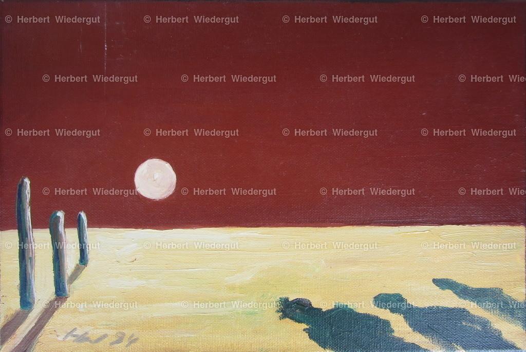 Schatten gegen das Licht   Ölgemälde von Dr. Herbert Wiedergut