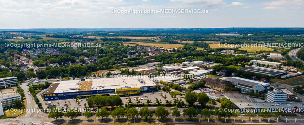 20190804-Luftbilder Dortmund Oespel | 04.08.2019 in Dortmund (North Rhine-Westphalia, Germany) Luftbilder Dortmund Oespel IKEA Filiale im Induparl Oespel  Foto: Michael Printz / PHOTOZEPPELIN.COM