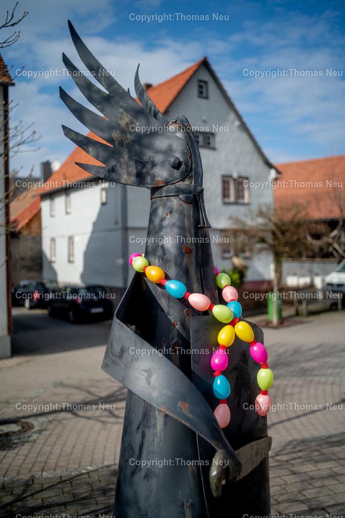 DSC_5085 | Lautertal, Reichenbach, der trotzige Hagen sieht mit Oasterschmuck plötzlich viel friedlicher aus,...,, Bild: Thomas Neu