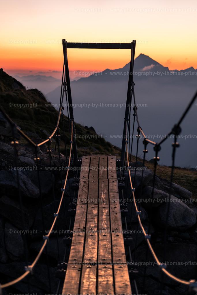 Olpererhütte Brücke am Morgen -2