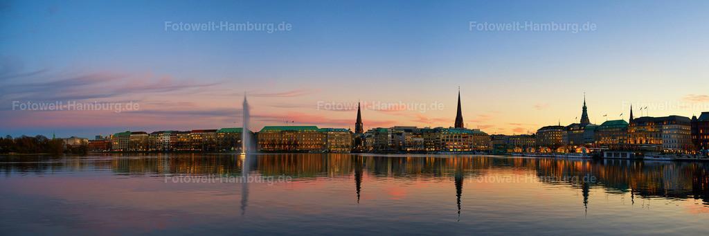 11951843 - Abendrot Panorama an der Binnenalster