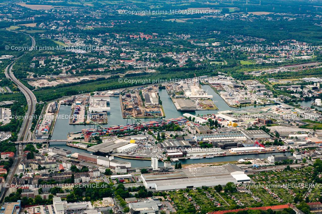 2012-08-28 Fotoflug Dortmund | Luftbildflug Dienstag, 28. August 2012 Deutschland, Nordrhein-Westfalen, Dortmund, Dortmund. Hafen. Foto: Michael Printz / PHOTOZEPPELIN.COM