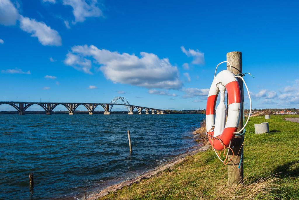 Eine Brücke zwischen Seeland und Moen in Dänemark | Eine Brücke zwischen Seeland und Moen in Dänemark.