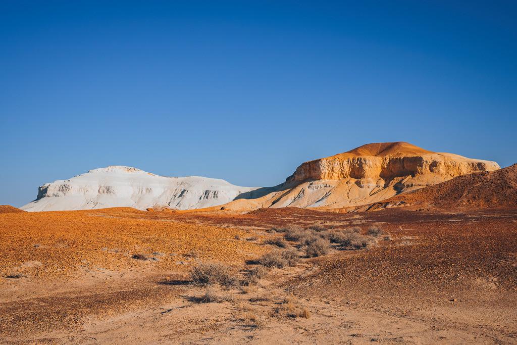 Salt & Pepper Berge in den Breakaways   Salt & Pepper Breakaways Berg Formation bei Coober Pedy Australien