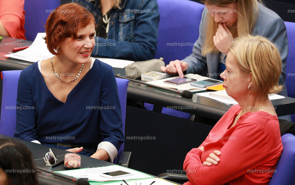 Katja Kipping mit Gesine Lötzsch