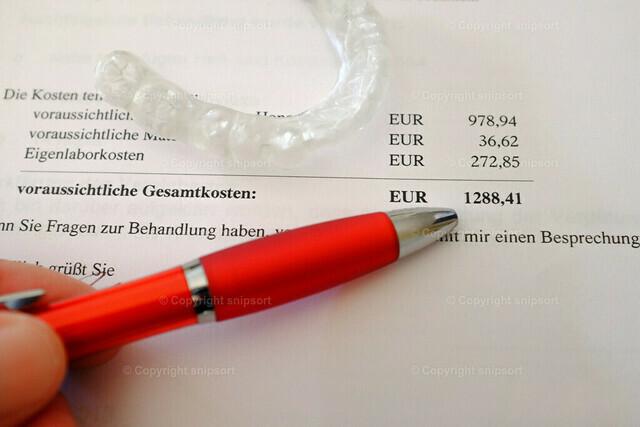 Gesamtkosten einer Zahnbehandlung