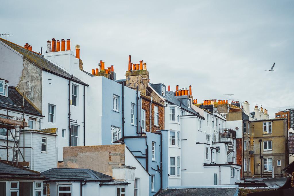 Brighton | britische Architektur, Fassaden, Schornsteine, Brighton, England
