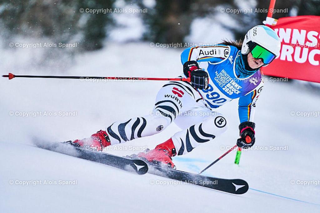 ALS5633_WWMG_GS-II_C | (C) FotoLois.com, Alois Spandl, WinterWorldMastersGames 2020 Innsbruck, Giant Slalom-II Gruppe C Damen, Patscherkofel Olympiaabfahrt, Mi 15. Jänner 2020.