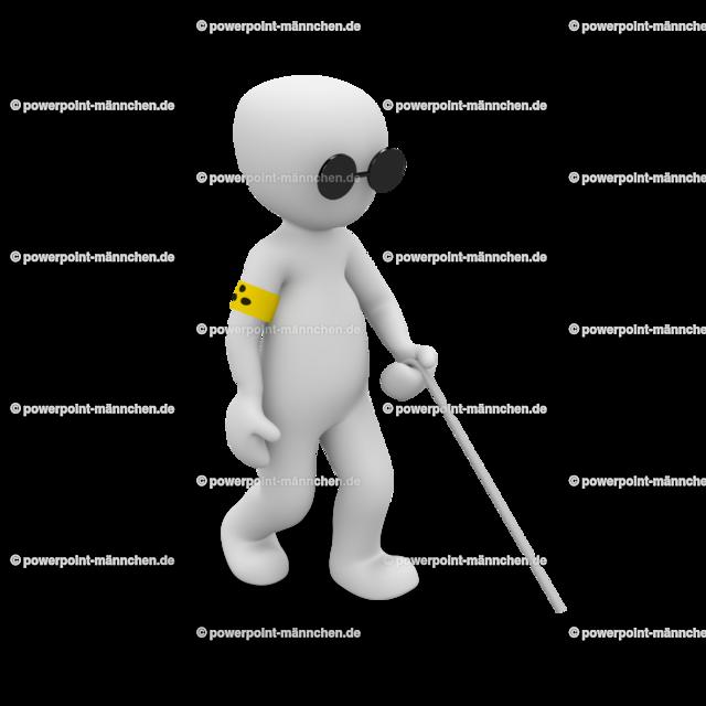 a blind man with a stick | Quelle: https://3dman.eu   Jetzt 250 Bilder kostenlos sichern