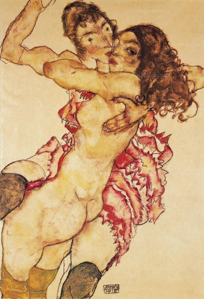 Schiele_ Egon (1890-1918) - Two Girls embracing 1915