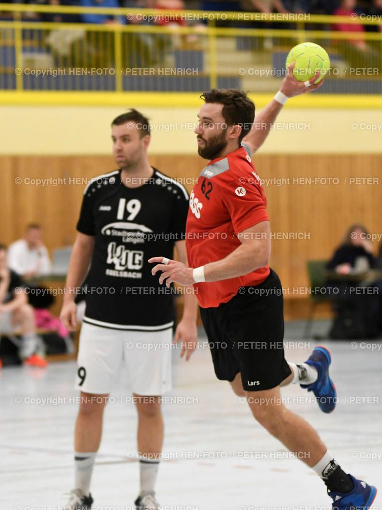 Handball Männer Landesliga MSG Rossdorf Reinheim - SG Egelsbach copyright HEN-FOTO | 16.2.2020 Handball Männer Landesliga MSG Rossdorf Reinheim - SG Egelsbach (25:26) li 19 Maximilian Leptich (E) re 62 Lars Schmidt (Ro) copyright + Foto: Peter Henrich (HEN-FOTO)