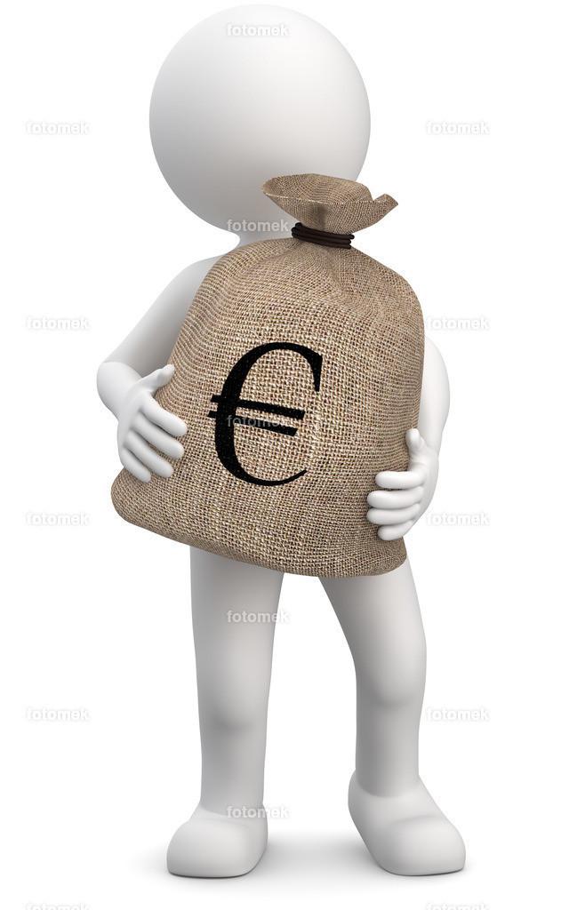 Männchen mit Geldsack