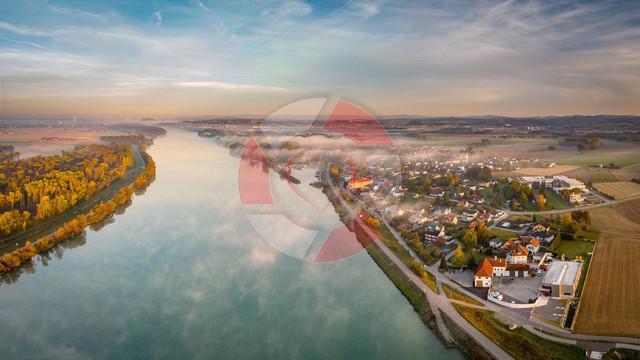 Blick auf Au an der Donau