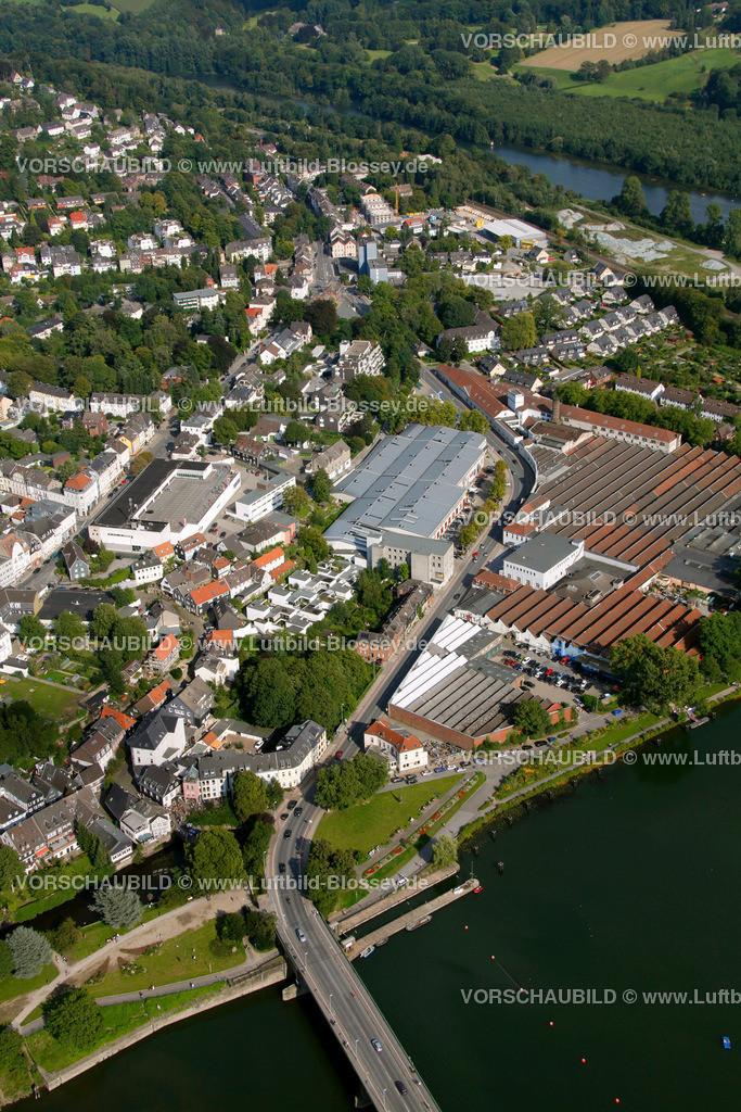 KT10094257   Ringstrasse, Kettwig, Ruhr, Luftbild,  Essen, Ruhrgebiet, Nordrhein-Westfalen, Germany, Europa, Foto: hans@blossey.eu, 05.09.2010