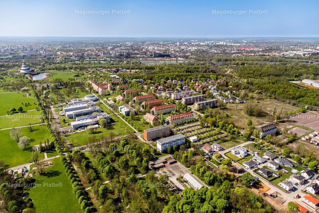 Magdeburg Hochschule-8891-2 | Luftbilder aus der Vogelperspektive von MAGDEBURG ... mit Drohne oder von oben fotografiert für die Bilddatenbank der Luftbildfotografie von Sachsen - Anhalt.
