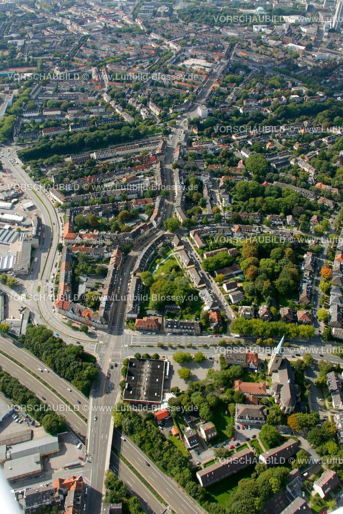 ES10094208 | Rellinghauser Strasse, Luftbild,  Essen, Ruhrgebiet, Nordrhein-Westfalen, Germany, Europa, Foto: hans@blossey.eu, 05.09.2010