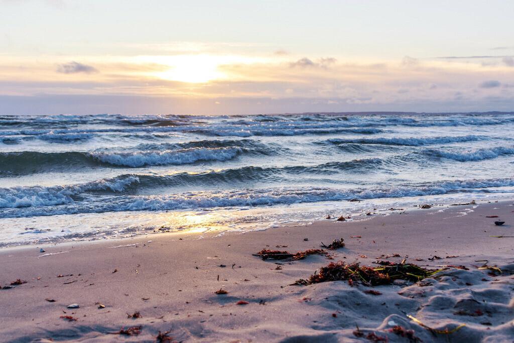 Strand in Damp   Sonnenaufgang in Damp