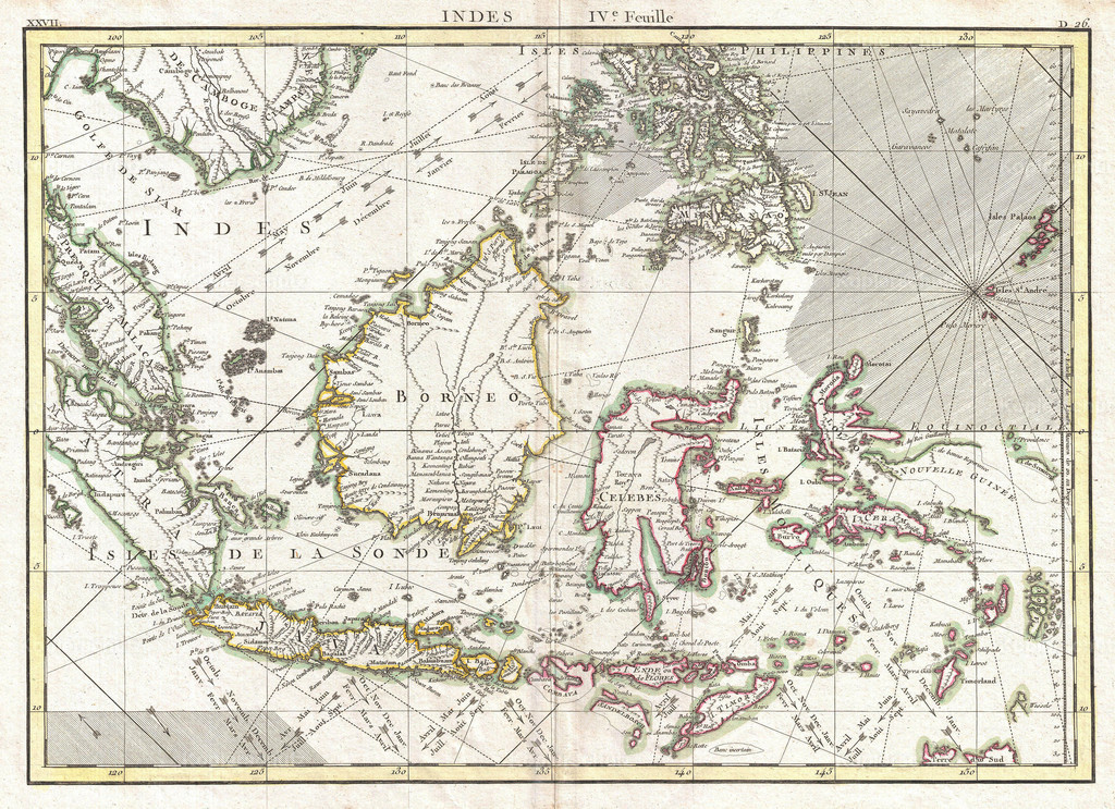1770_Bonne_Map_of_the_East_Indies_(Java__Sumatra__Borneo__Singapore)