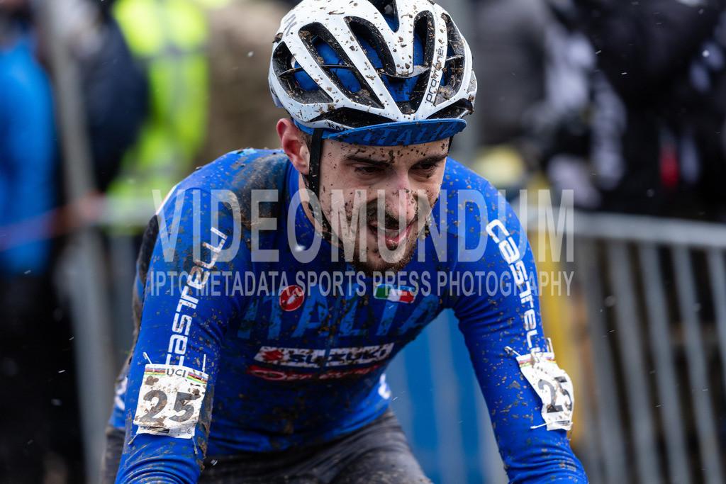 Valkenburg, Netherlands - February 4, 2018: UCI Cyclo-cross World Championships, U23 | Valkenburg, Netherlands - February 4, 2018: UCI Cyclo-cross World Championships, U23, Matteo Vidoni, Photo: videomundum