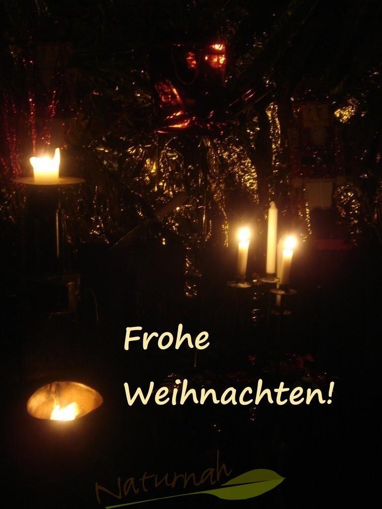 Frohe Weihnachten mit Kerzen