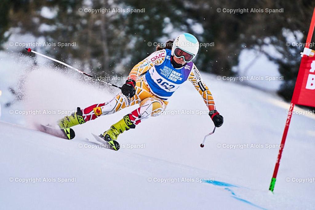 ALS5986_WWMG_GS-II_C | (C) FotoLois.com, Alois Spandl, WinterWorldMastersGames 2020 Innsbruck, Giant Slalom-II Gruppe C Damen, Patscherkofel Olympiaabfahrt, Mi 15. Jänner 2020.