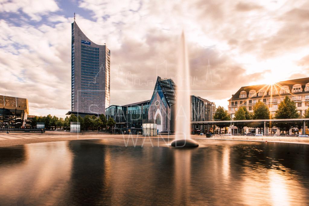 Augustusplatz Springbrunnen | Abendsonne am Augustusplatz.