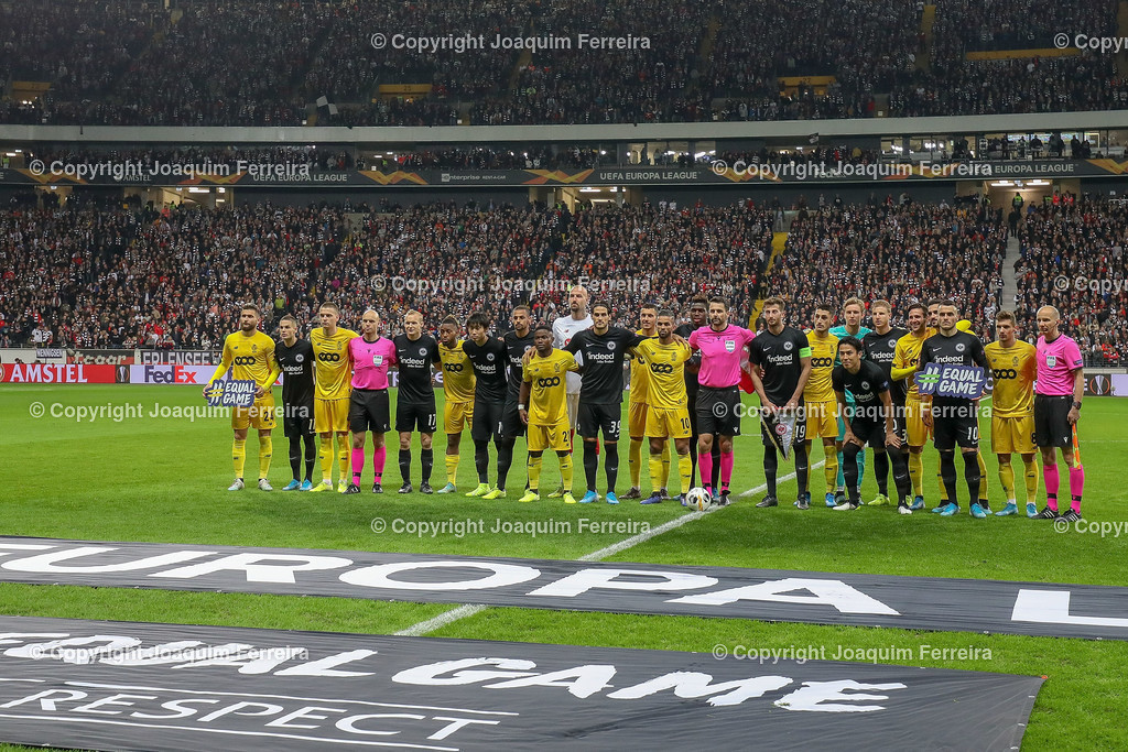 191024_sgevslie_5007 | 24.10.2019 Gruppenspiel Gruppe F UEFA Europa League Saison 2019/20 Eintracht Frankfurt - Standard Liege  emspor, emonline, despor, v.l.,   Foto: Joaquim Ferreira (DFL/DFB REGULATIONS PROHIBIT ANY USE OF PHOTOGRAPHS as IMAGE SEQUENCES and/or QUASI-VIDEO)