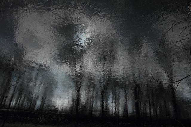 Seele | Stark verfremdete Spiegelungen im Wasser.